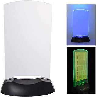 LHIABNN LED Sign Holder Luminous Menu Board with Color Lights for Bar Restaurant (White)
