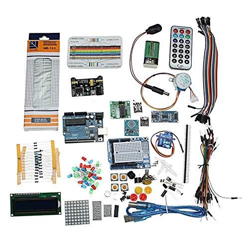 HU ZHANG Relè Circuito per Arduino, Starter Project Kit con componenti Uno R3 Mega 2560 Nano Breadboard modulo Intelligente
