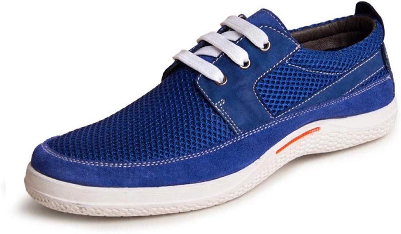 Leather Men's net shoes, Men's Sports shoes Men's Business Hollow shoes Men's Dress shoes