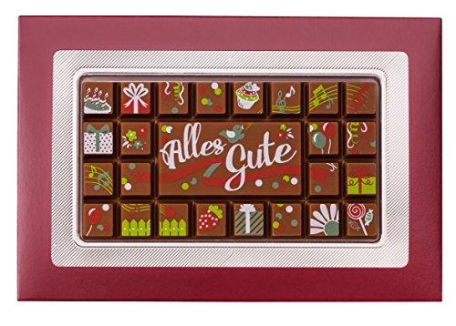 Weibler Confiserie Geschenkpackung Alles Gute Edelvollmilch Schokolade 70g
