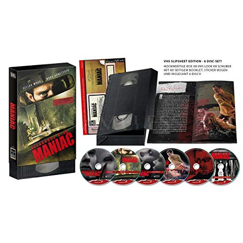 Maniac - Limited Uncut VHS Schuber Edition - 6 Disc 500 Stk. - UHD - Blu-ray - DVD + Soundtrack