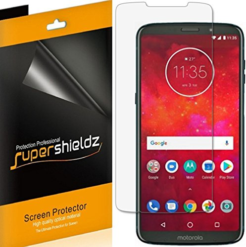 (6 Pack) Supershieldz Designed for Motorola Moto Z3 Screen Protector, High Definition Clear Shield (PET)