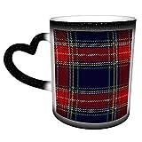 Tartán tradicional Tartán escocés sin costuras a cuadros Taza de café de cerámica Regalo de Navidad Relleno de calcetín