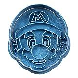 Cuticuter Bros - Tagliapasta per biscotti, motivo Mario Cara, blu, 8 x 7 x 1,5 cm
