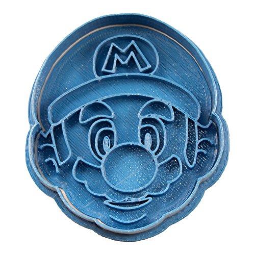 Cuticuter Mario Bros Mario Face Cookie Cutter, Blue