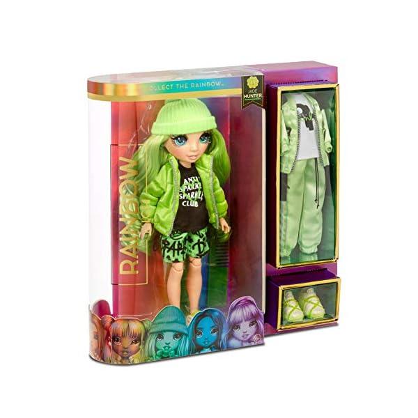 Rainbow High Muñeca de Moda - Jade Hunter Muñeca en Verde con Conjuntos Elegantes, Accesorios y Soporte para Muñeca…