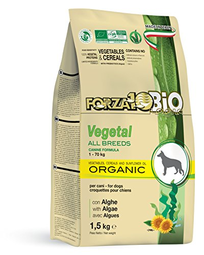 Forza10bio Crocchette Vegetali con Alghe per Cani di Tutte Le Taglie, Bio - 10 kg
