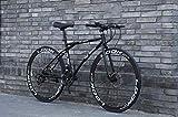 Bicicletas de carretera de mujeres de los hombres y de 24 velocidades, las bicis de 26 pulgadas, sólo for adultos, Marco de acero de alto carbono, camino de la bicicleta de carreras, ruedas de doble f