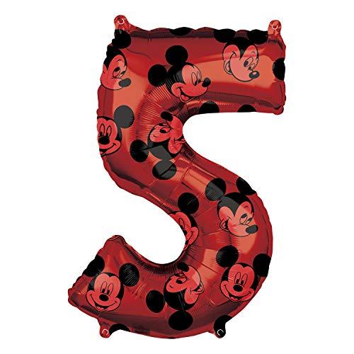 Globo de cumpleaños de Mickey Mouse número 5