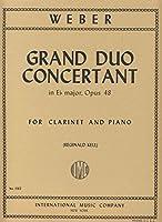 ウェーバー: 大二重協奏曲 Op.48/インターナショナル・ミュージック社/クラリネットとピアノ
