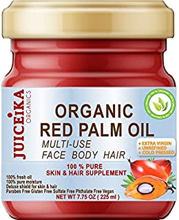 100 % PURE ORGANIC RED PALM OIL Brazilian. EXTRA VIRGIN / UNREFINED COLD PRESSED. 100% Pure Moisture for FACE, BODY, HANDS, FEET, MASSAGE, NAILS & HAIR and LIP CARE.