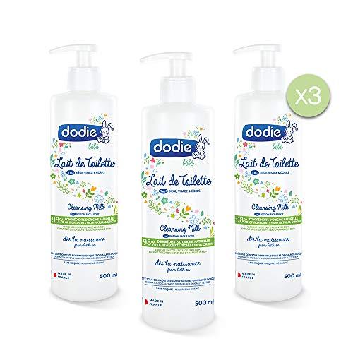 Dodie - Lote De 3 Leche Limpiadora 2 En 1, 500 Ml, 3 unidades