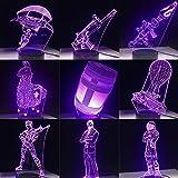 Jeu 3D Led Lampe 7 Couleurs Tactile Commutateur Table Bureau Lumière Lampe De Lave...