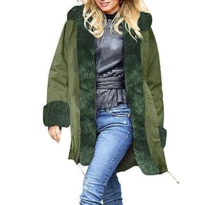 Clearance Sale! Caopixx Women's Casual Warm Faux Shearling Coat Jacket Long Sleeve Lapel Fluffy Fur Outwear