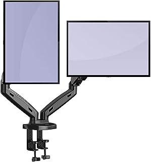 """Invision Support Écran PC Moniteur pour 2 Ecrans, Bras Articulé Ergonomique Ressort à Gaz pour Écrans 43–68,5cm (17–27"""") R..."""