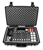 Casematix Waterproof Mixer Carry Case Fits Rode Rodecaster Pro Podcast Production Studio and Adapter - Hard Carry Case With Padded Foam