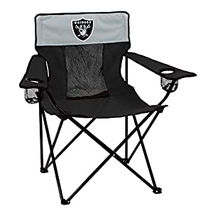 Logo Brands Officially Licensed NFL Las Vegas Raiders Unisex Elite Chair, One Size, Team Color by Logo Inc.