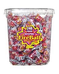 Red hot flavor: Atomic Fireballs are the original super intense cinnamon jawbreaker candy that will leave you wanting more; Exhilarate your taste buds with their seriously fiery cinnamon sweetness Can you handle the heat: These mouth igniting sweat i...