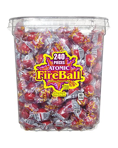 Atomic Fireballs Candy 4.05 Pound Bulk Tub