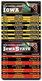 300 PIECES Magnetic Business Card College Football Sport Schedules 3.5' x 9' Iowa / Iowa State