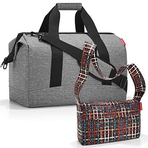 reisenthel Allrounder L Reisetasche Sporttasche mit Zugabe (Twist Silver+Wool)