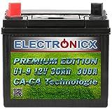 U1(9) 30AH 300A(EN) Power Green Batteria Premium per i trattorini tosaerba e macchine per il giardinaggio 12v