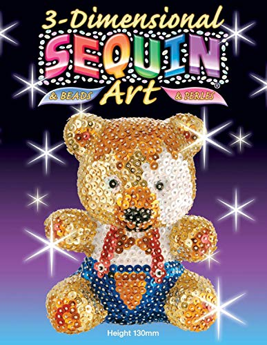 KSG Arts and Crafts 3D Sequin Art 0502 Teddy 3D Polystyrene Model Kit