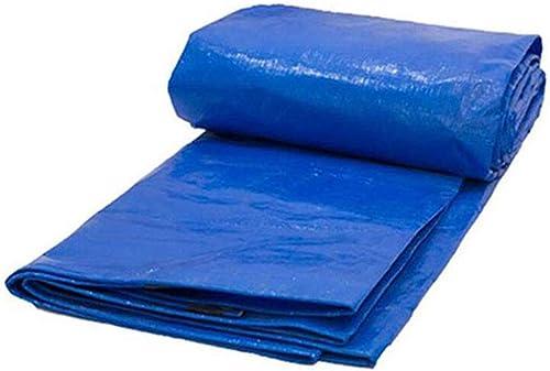 JUEJIDP Film recouvert de Papier imperméable à l'eau de Pluie bache Double Bleu Pare-Soleil Pluie Double bache en Plastique d'agneau Tente