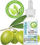 PURE SQUALANE OIL 100% Pure Moisturizer para el cuidado de la cara, el cuerpo, el cabello, los labios y las uñas. 0.5 Fl.oz.- 15 ml. por Juiceika Organic