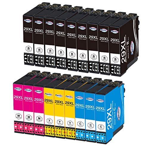 Paeolos Compatibile con Epson 29XL Cartucce d'inchiostro per Epson Expression Home XP-235 XP-245 XP-247 XP-255 XP-332 XP-335 XP-345 XP-352 XP-355 XP-432 XP-442 XP-445 XP-452 18-pezzi