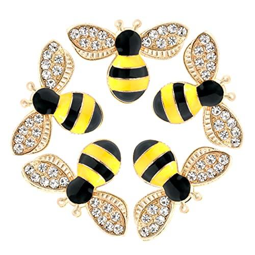 20 ciondoli a forma di ape, con strass smaltati, decorazioni artigianali fai da te per orecchini, collane, gioielli, 20 pezzi