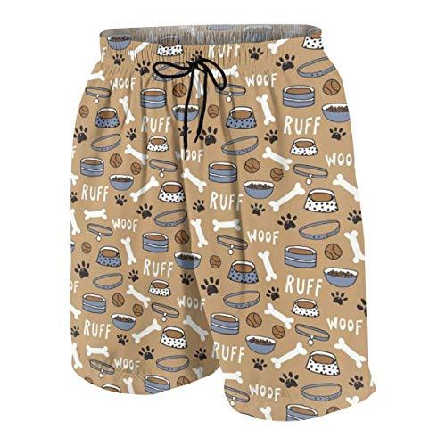CGHD Hundefutter Badehose für Teenager Quick Dry Beach Board Shorts mit Seitentaschen