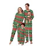 Alueeu Conjunto de Pijamas Navideños Moon Suave y Cómodo Ropa de Dormir Manga Larga Homewear Pijamas Navidenos Unisex riou