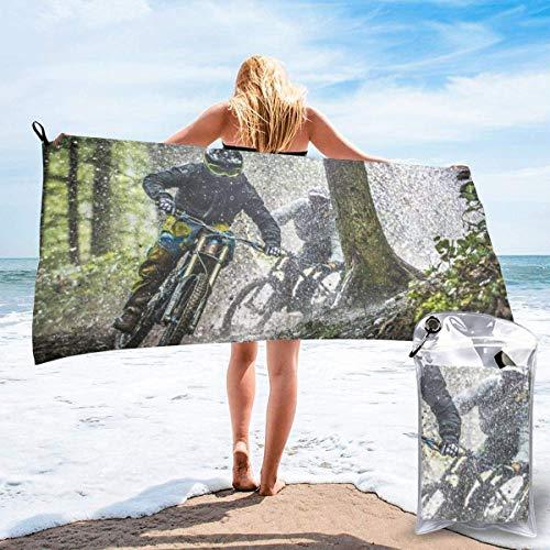 Paedto Toalla de playa, extra grande, 80 x 130 cm, suave, altamente absorbente, ideal para viajes diarios, camping, gimnasio, piscina, sillas de playa, bicicletas de montaña