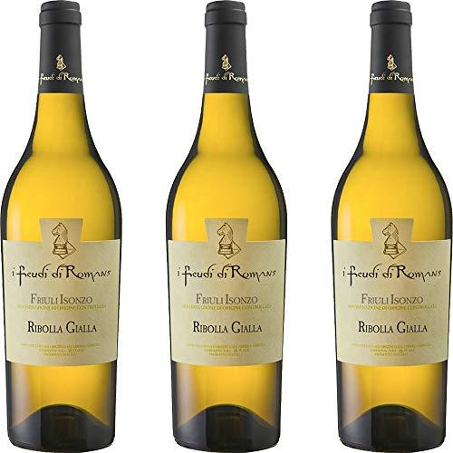 Ribolla Gialla IGT   Friuli Isonzo   I Feudi di Romans   Vino Bianco Tipico del Friuli   3 Bottiglie 75 Cl   Idea Regalo