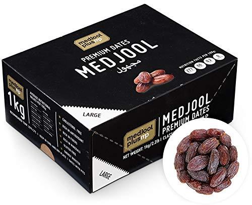 KoRo - Datteri Medjoul PREMIUM LARGE con nocciolo 1 kg - datteri essiccati extra morbidi senza zucchero e senza zolfo, teneri e dolci, origine Israele