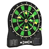 Electronic Dart Boards for Adults with Scoring,15.5 inches Target Area With Dartboard Light, 12 Soft Tip Darts,LED Display,48 Games 315 Option,Voice System,Professional Party Bar Games- H HUKOER