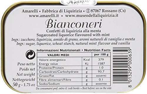 Liquirizia Bianconeri 50g Licorice 50g licorice bits by Amarelli