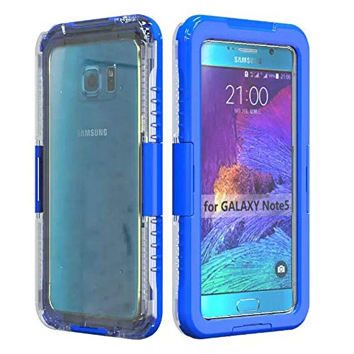 Waterproof Shockproof Diving Swimming Hard Phone Case Cover for Samsung Galaxy S6 Edge+ Plus/Note 5 (Blue)
