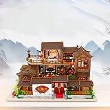 IrahdBowen Kit De Casa De Muñecas De Bricolaje, 3D Ensamblado Loft Cabaña De...