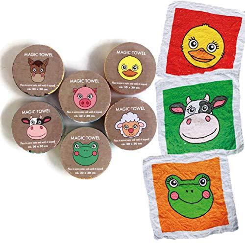 Bada Bing - Set di asciugamani magici Set di 6 animali