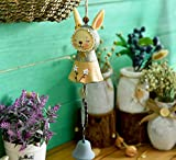 wind chimes carillons éoliens Jardin mignon capuche brodée jupe lapin fille vent carillons artisanat cadeaux...
