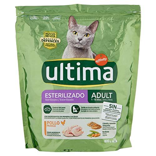 ultima Pienso para Gatos Esterilizados Adultos con Pollo y Cebada - 800 g