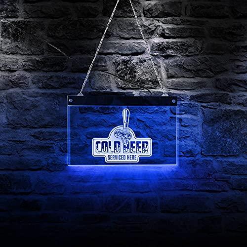 30cm * 20cm Cerveza fría con servicio aquí Bar Club Drunkery Business...