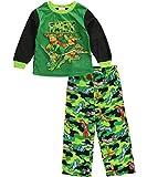 AME Sleepwear Boys' Teenage Mutant Ninja Turtle Camo Fleece Toddler Pajama Set (2T)