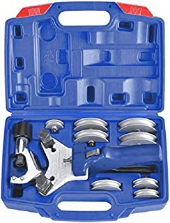 Tubing Pipe Bender Kit for 1/4'' 5/16'' 3/8'' 1/2'' Heavy Duty 90-Degree Copper Pipe Bender Manual Steel Tube Bender Cutter Tool Set