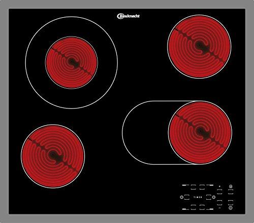 Bauknecht CTAR 9642 IN geïntegreerde keramische kookplaat, zwart, 1200 W, rond