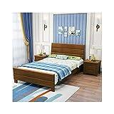 JTJxop Marco de cama con plataforma de madera maciza, base de colchón de madera de goma, soporte de listones resistentes, no necesita sombrilla, para niños y adultos, A, 135 x 200 cm