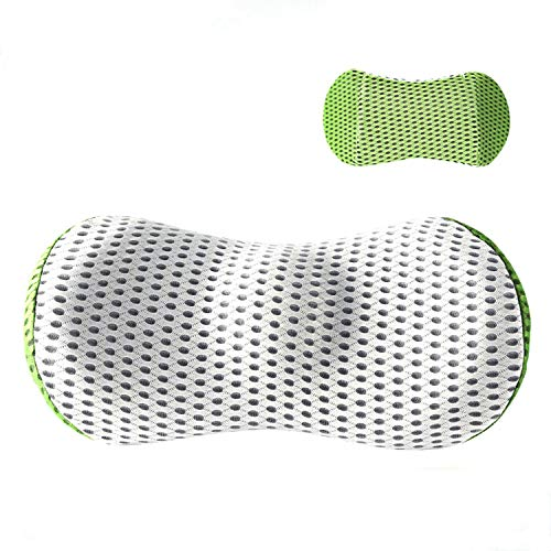 MRCOCO Lumbar Cushion, Back Support Cushion, Memory-Foam Backrest for Lower Back Pain And Posture Correction. Orthopedic Lumbar Support for Office Chairs And Car Seats,Green
