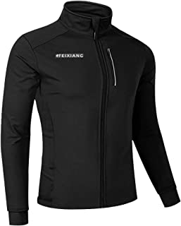 feiXIANG Men's Cycling Bike Jackets, Winter Thermal Softshell Running Bicycle Jacket Breathable Windbreaker